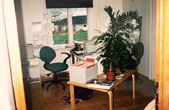 Kaikki alkoi tästä, Vihdin Irjalassa 1994 lahjoitetulla ja omista nurkista haalituilla vehkeillä.